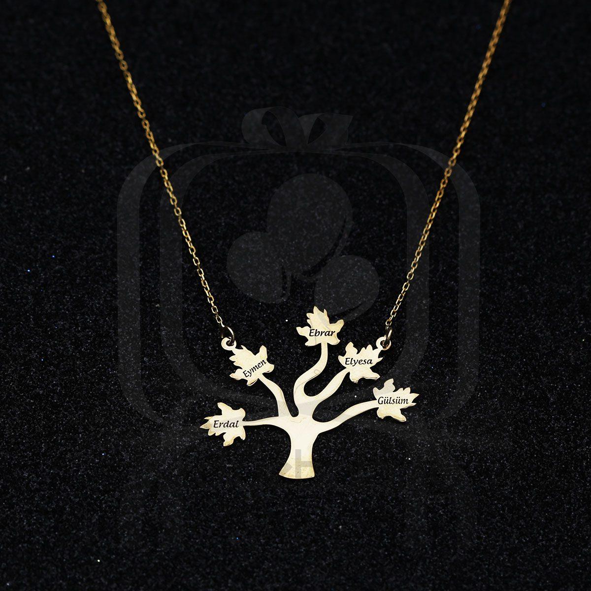 Kişiye Özel İsim Yazılı Hayat Ağacı Kolye
