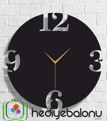 Büyük Rakamlı Ahşap Duvar Saati