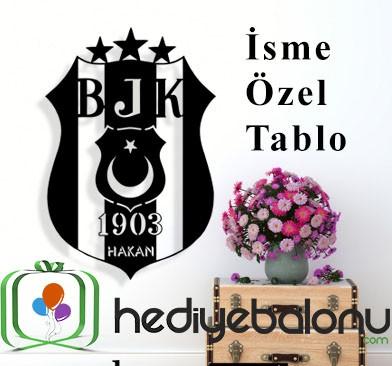 Beşiktaş Logo Kişiye Özel Duvar Tablosu