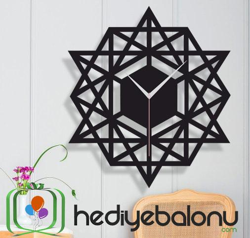 Geometrik Osmanlı Desenli Dekoratif Duvar Saati