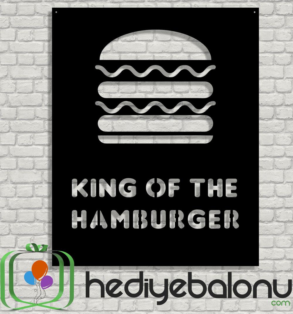 Hamburger Ahşap Duvar Tablosu