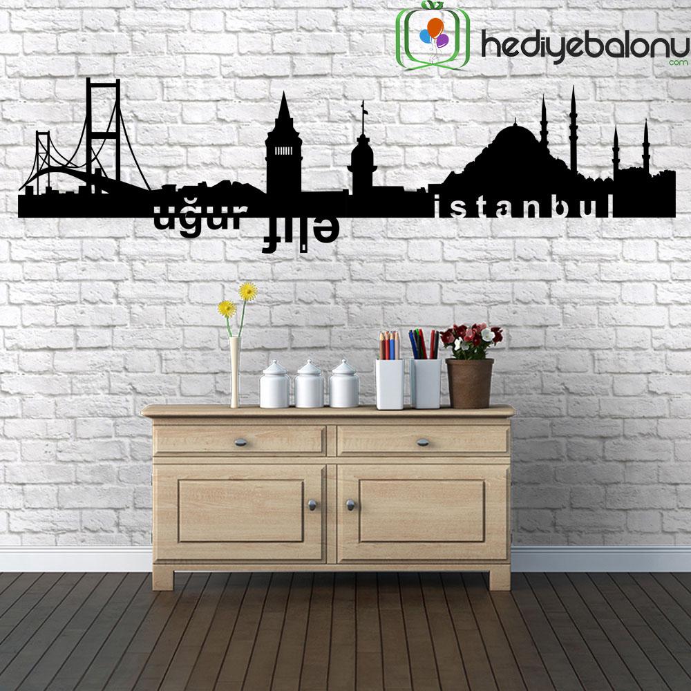 Kişiye Özel İsimli İstanbul Silüeti