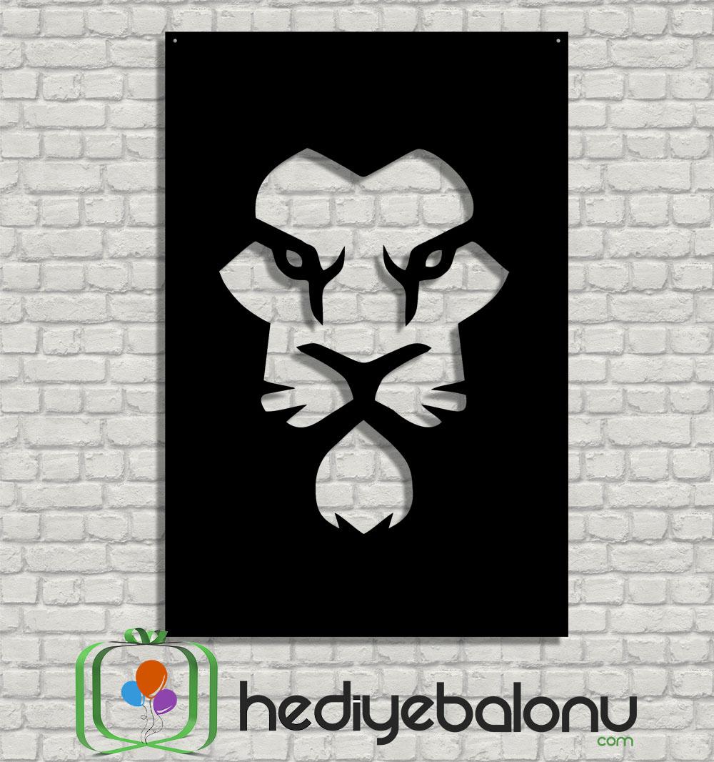 Aslan Portre Dekoratif Ahşap Duvar Tablosu
