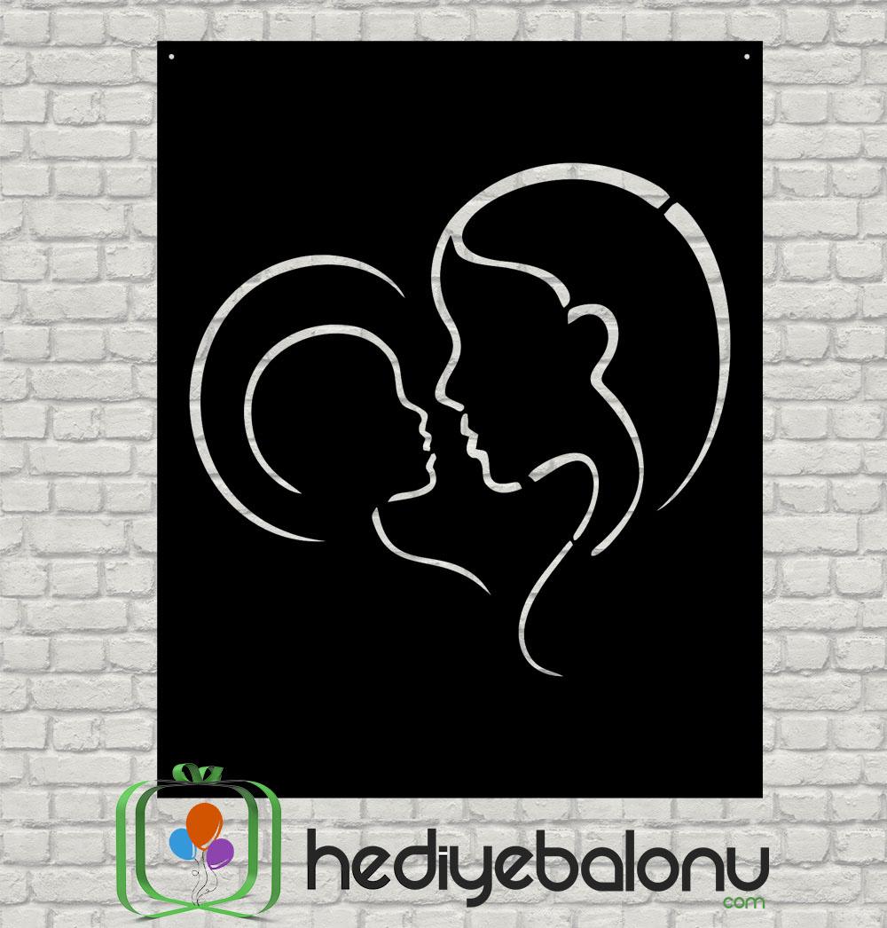 Anne & Bebek Ahşap Duvar Tablosu