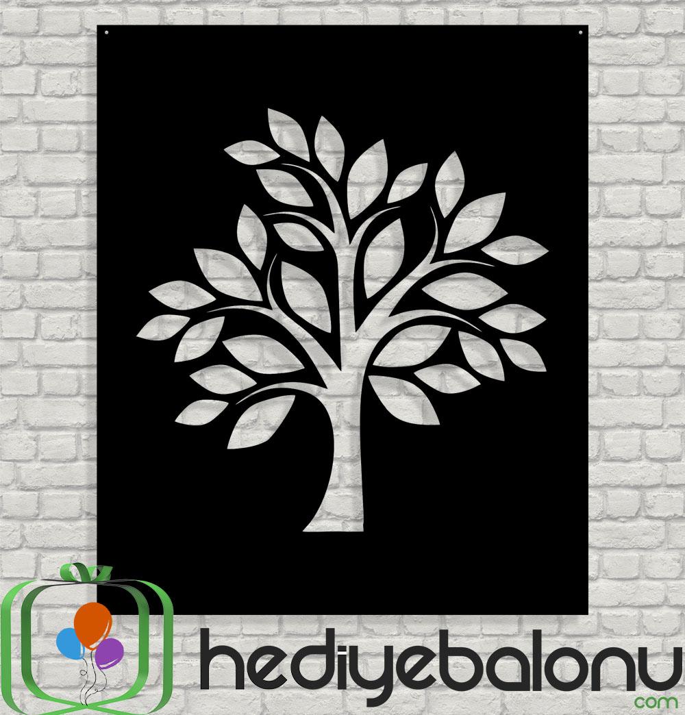 Ağaç Desenli Dekoratif Ahşap Duvar Tablosu